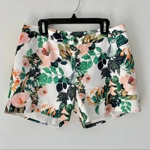 5/48 Floral Owl Lined Pocket Shorts Size XS